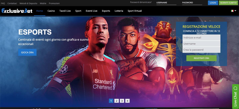 Esports e Sport Virtuali su Exbet4